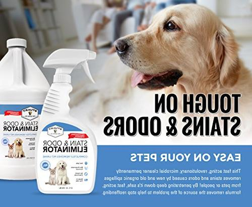 Professional Stain & Odor Eliminator-Enzyme-Powered Pet & Stain Dog Urine #1 Clean Scent 100%