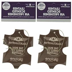 Gliptone Liquid Leather Scented Air Freshener - Pack of Two