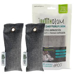 Mini MOSO NATURAL 2 Pack Air Purifying Bags, Shoe Deodorizer