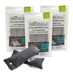 Mini Moso Natural Air Purifying Bags, Shoe Deodorizer and Od