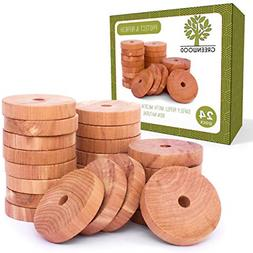 JJecommUS Moth Protection Accessories Cedar Rings