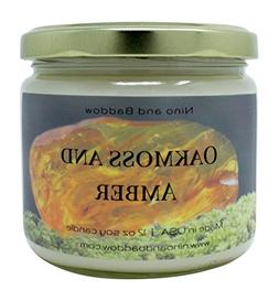 Nino and Baddow Oakmoss and Amber Soy Wax Candles Candle Sce