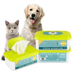 PUPMATE Pet Wipes for Dogs & Cats, Extra Moist & Thick Groom