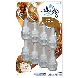 Glade PlugIns Scented Oil ~ Cashmere Woods 8 Pack Scented Oi