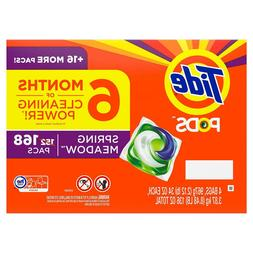 Tide Pods Spring Meadow 152 Pacs Laundry Detergent Stain Rem