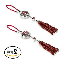 BellaSentials 2 PACK RED Car Fragrance Diffuser, Essential O