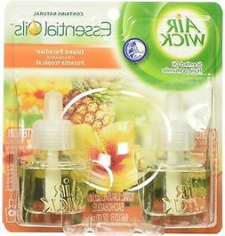 Scented Oil Twin Refill, Island Paradise, .67oz, 2/Pack