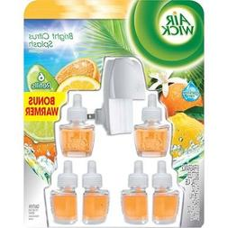 Air Wick Scented Oils - Bright Citrus Splash - Warmer & 6 Re