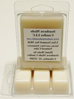 3 Pack 3.5 oz Scented Soy Wax Candle Melts Tarts - Smoke & O