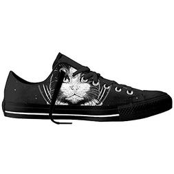 Man Womens Sneakers Casual Canvas Shoes Space Cat Feat Low T