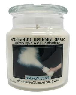 Premium 100% Soy Apothecary Candle - 16 oz Double Wicked- Ba