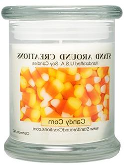 Premium 100% Soy Candle - 12 oz. Status Jar - Candy Corn: A