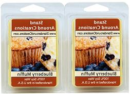 100% Soy Wax Melt Tarts - Set of 2 - Blueberry Muffins: The