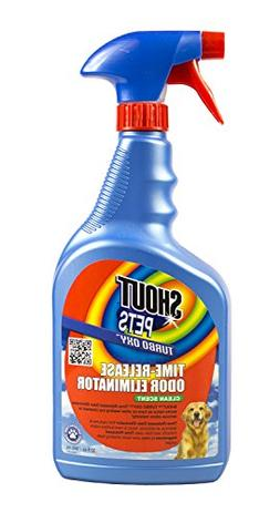 SHOUT PETS Turbo-Oxy Time-Release Odor Eliminator 32 oz.