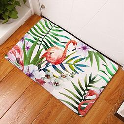 CarPet Water Absorption Door Mats Colorful Tropical Flamingo